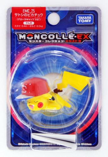 Takara Tomy Pokemon Moncolle Monster Collection EX EMC_25 Ash's Pikachu Alola Cap Version