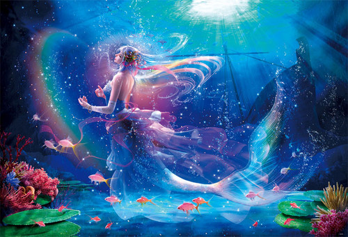 Beverly Jigsaw Puzzle 81-115 Holy Wish Mermaid Princess (1000 Pieces)