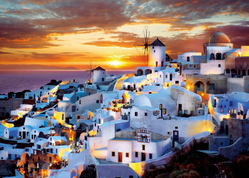 Epoch Jigsaw Puzzle 05-108 Evening View Santorini Greek (500 Pieces)
