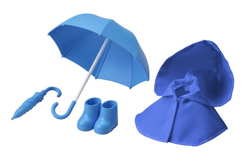 Kotobukiya ADE06 Cu-poche Extra Rainy Day's Coat and Umbrella Set Blue