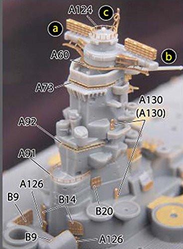 Fujimi TOKU SP72 IJN Battleship Musashi Battle of Leyte Gulf DX 1/700 Scale kit