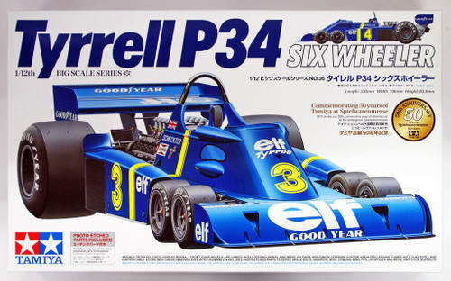 Tamiya 12036 Honda Tyrrell P34 Six Wheeler w/Photo Etched Parts 1/12
