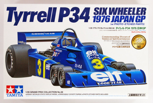 Tamiya 20058 Tyrrell P34 Six Wheeler 1976 Japan GP 1/20 scale kit