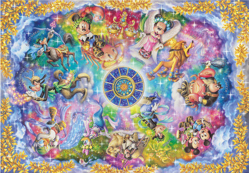 Tenyo Japan Jigsaw Puzzle DS-1000-773 Disney 12 Constellations (1000 Pieces)