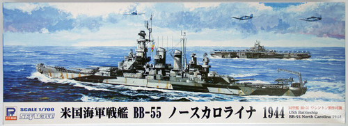 Pit-Road Skywave W-140 USS BattleShip BB-55 North Carolina 1944 1/700 Scale Kit