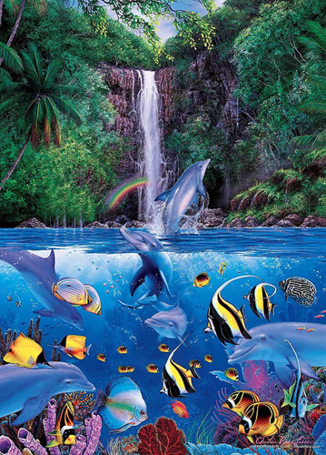 Epoch Jigsaw Puzzle 29-703 Lassen Eternal Rainbow Sea IV (1000 S-Pieces)