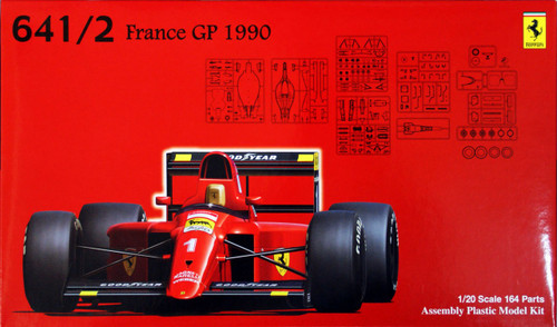 Fujimi GP5 090375 F1 Ferrari 641/2 1990 France GP 1/20 Scale Kit 090375