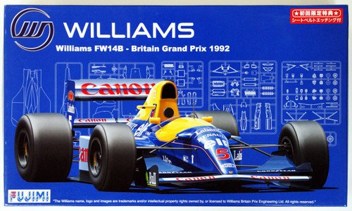 Fujimi GP SP13 090757 F1 Williams FW14B Britain GP 1/20 Scale Kit