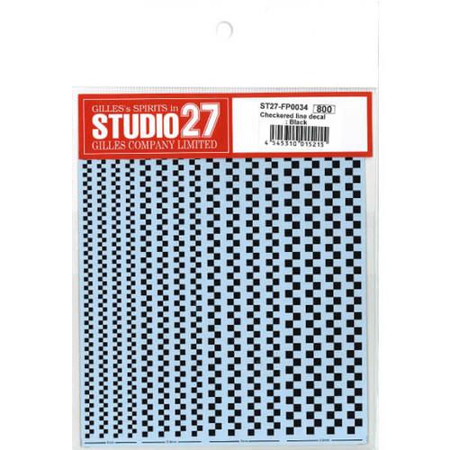 Studio27 ST27-FP0034 Checkered Line Decal : Black