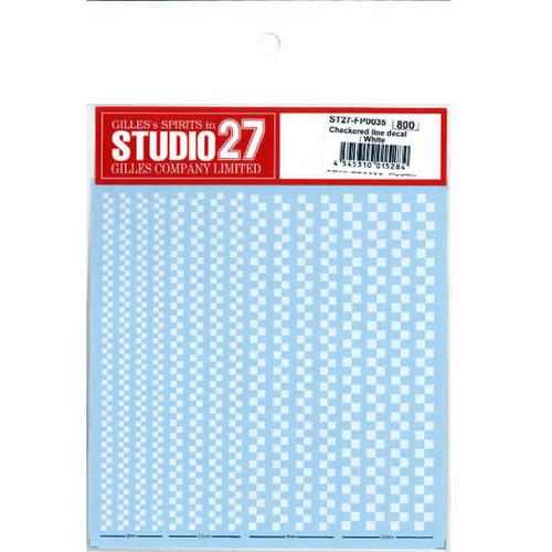Studio27 ST27-FP0035 Checkered Line Decal : White