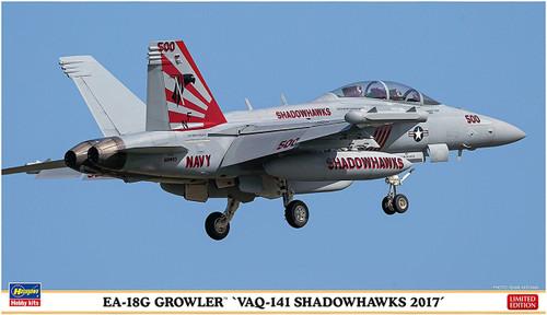 """Hasegawa 02250 EA-18G Growler """"VAQ-141 Shadowhawks 2017"""" 1/72 scale kit"""