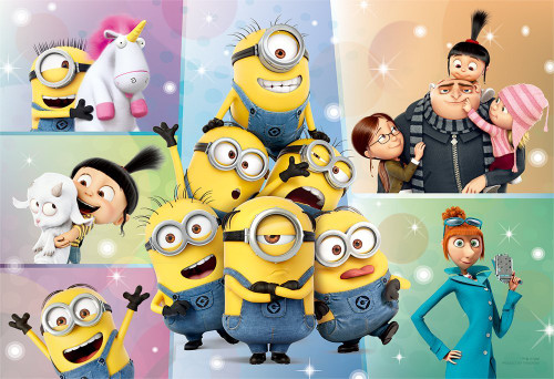 Yanoman Jigsaw Puzzle 1108-02 Despicable Me Minions (108 L-Pieces)