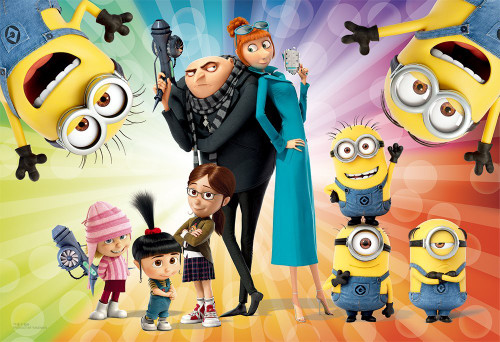 Yanoman Jigsaw Puzzle 1108-01 Despicable Me Minions (108 L-Pieces)