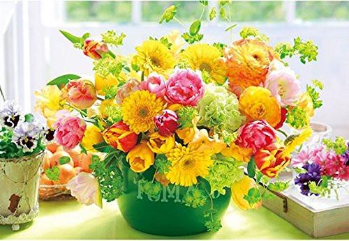 APPLEONE Jigsaw Puzzle 88-104 Beautiful Flowers Citrus Color (88 L-Pieces)