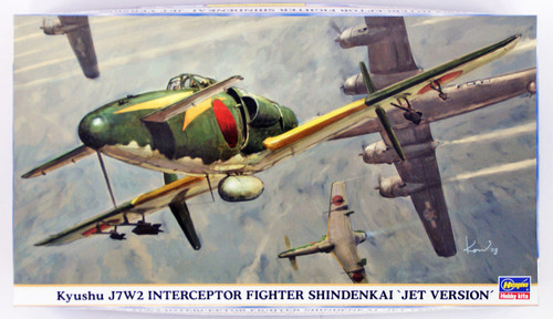 "Hasegawa 09846 Kyushu J7W2 Interceptor Fighter Shidenkai ""Jet Version"" 1/48"