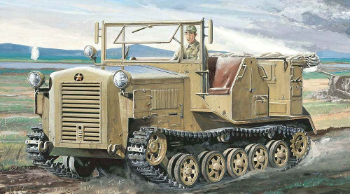 Pit-Road Skywave G-42E Imperial Japanese Army Type 98 4t Prime Mover SHI-KE with Photo-etched Parts 1/35 Scale Kit