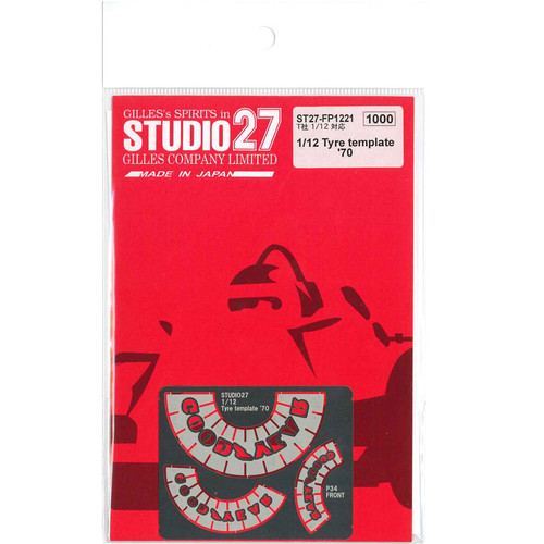 Studio27 ST27-FP1221 Tyre template '70 for Tamiya 1/12 Scale