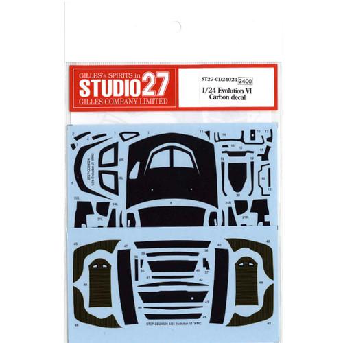 Studio27 ST27-CD24024 Evolution VI Carbon Decal for Tamiya 1/24 Scale