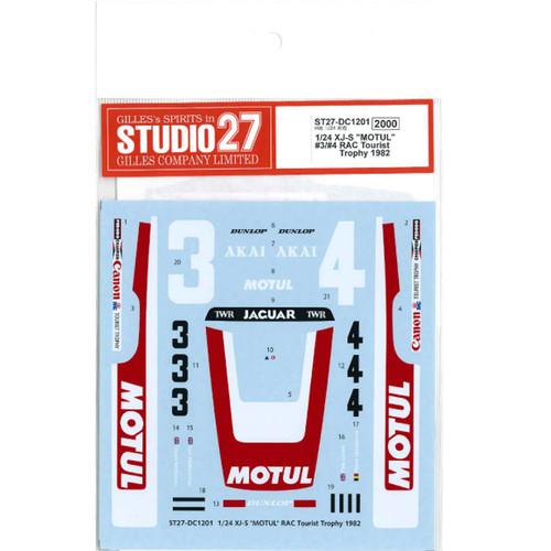 "Studio27 ST27-DC1201 XJ-S ""MOTUL"" #3 #4 RAC Tourist Trophy 1982 Decal for Hasegawa 1/24"