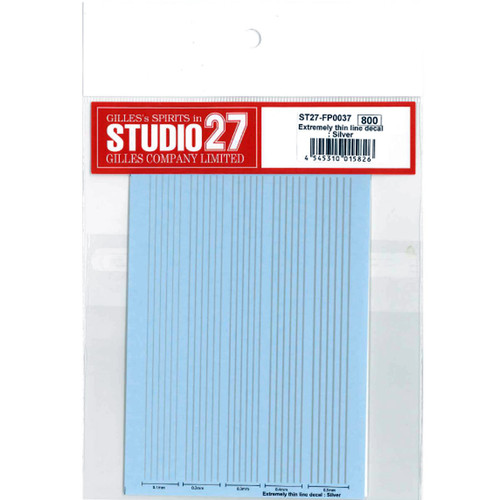Studio27 ST27-FP0037 Extremely Thin Line Decal: Silver