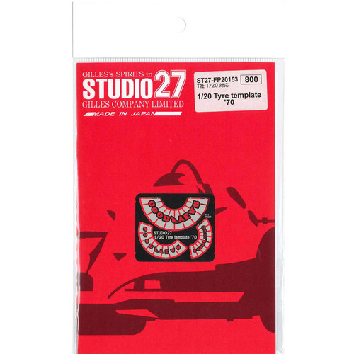 Studio27 ST27-FP20153 Tyre Template '70 for Tamiya 1/20