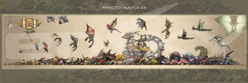 Ensky Jigsaw Puzzle 950-45 Monster Hunter XX Monster Size Chart (950 Pieces)