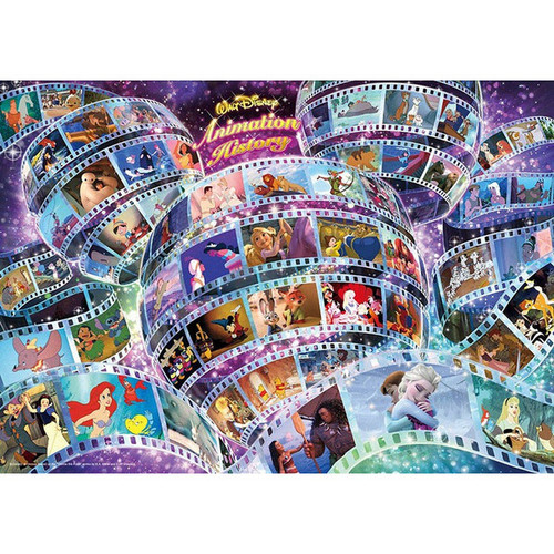 Tenyo Japan Jigsaw Puzzle D-300-002 Disney Animation History (300 Pieces)