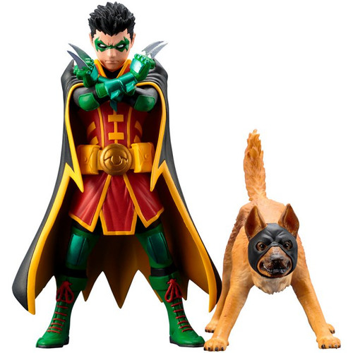 Kotobukiya SV222 ARTFX+ DC Comics Rebirth Super Sons Robin & Bat-Hound 1/10 Scale Set of 2 Figure