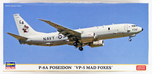 "Hasegawa 10822 P-8A Poseidon ""VP-5 Mad Foxes"" 1/200 scale kit"
