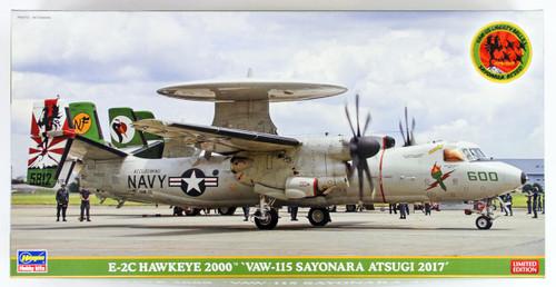 """Hasegawa SP363 E-2C Hawkeye 2000 """"VAW-115 Sayonara Atsugi 2017"""" 1/72 scale kit"""