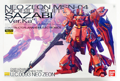 Bandai MG 222415 Gundam Neo Zeon MSN-04 Sazabi Version Ka with Special Decal 1/100 Scale Kit