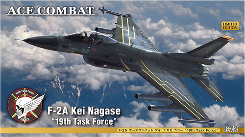 """Hasegawa SP364 F-2A Ace Combat Kei Nagase """"19th Task Force"""" 1/72 scale kit"""