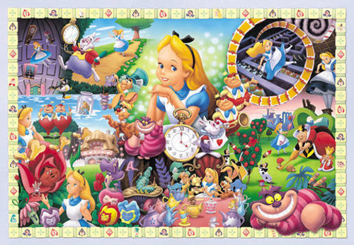 Tenyo Japan Jigsaw Puzzle D-108-966 Disney Alice In Wonderland (108 Pieces)