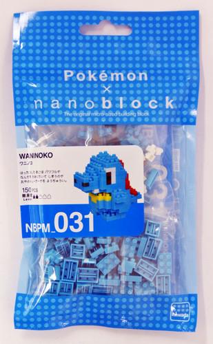 Kawada NBPM-031 nanoblock Pokemon Totodile (Waninoko)