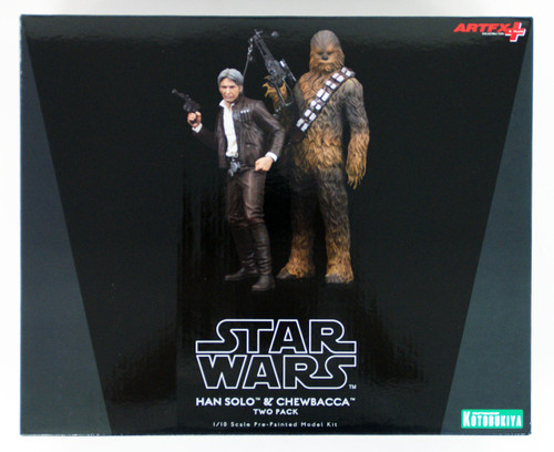 Kotobukiya SW120 ARTFX+ Han Solo & Chewbacca 1/10 Scale Set of 2 Figure (Star Wars The Force Awakens)