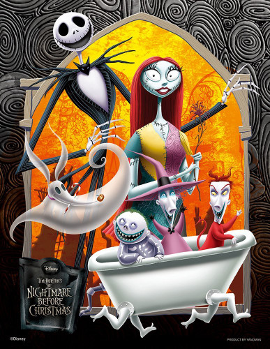 Yanoman Jigsaw Puzzle 42-47 Disney The Nightmare Before Christmas (300 Small Pieces)