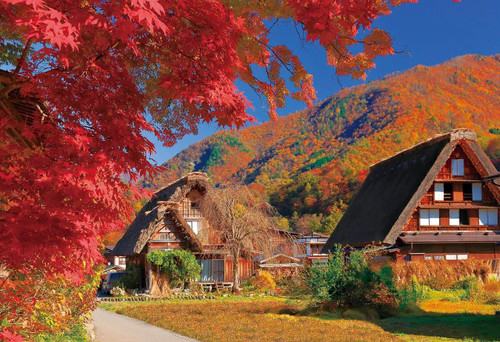 Epoch Jigsaw Puzzle 25-151 Autumn Leaves Shirakawa-go Gifu Japan (300 Pieces)