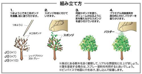 Doyusha 103500 Castle Accessory Trees at Castle Plastic Kit