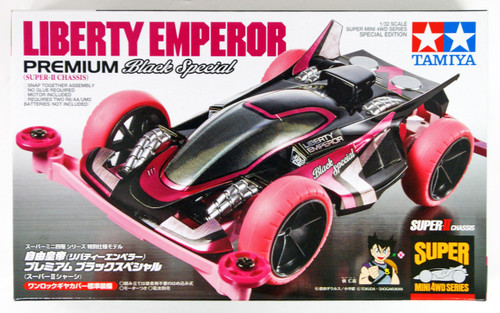 Tamiya 95362 Mini 4WD Liberty Emperor Premium Super II Chassis Black Sp.