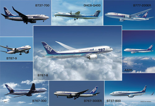 Yanoman Jigsaw Puzzle 1108-04 All Nippon Airways ANA (108 L-Pieces)