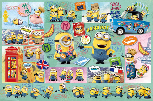 Yanoman Jigsaw Puzzle 10-1297 Despicable Me Minions World Panic (1000 Pieces)