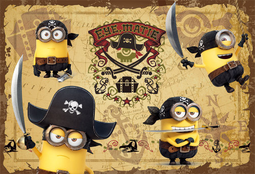 Yanoman Jigsaw Puzzle 03-861 Despicable Me Minions Pirates (300 Pieces)