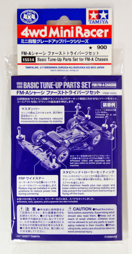 Tamiya 15514 Mini 4WD Basic Tune-Up Parts FM-A Chassis