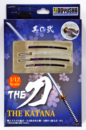 Doyusha 004784 The Katana (Japanese Sword) Ni Black Finished Model 1/12 Scale