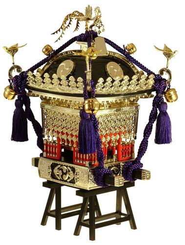 """Doyusha 150115 Japanese Edo """"Mikoshi"""" Pre-painted (Black) 1/8 Scale Kit"""