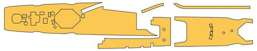 Hasegawa QG71 721715 Linoleum Masking Sheet for Destroyer Asashio 1/700 scale