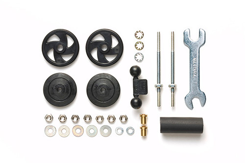 Tamiya 95358 Mini 4WD Large Dia. Stabilizer Head Set (17mm) (Black)
