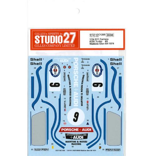 """Studio27 ST27-DC1205 911 Carrera RSR Turbo """"Martini"""" #9 Watkins Glen 6H 1974 for Fujimi 1/24 Scale"""