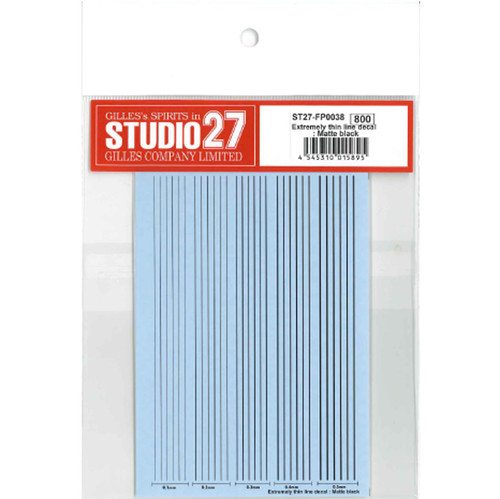 Studio27 ST27-FP0038 Extremely Thin Line Decal Matte Black