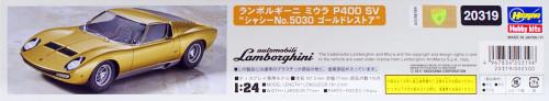 """Hasegawa 20319 Lamborghini Miura P400 SV """"Chassis No.5030"""" Gold Restore 1/24 scale kit"""